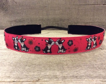 Dog Nonslip Headband, Noslip Headband, Workout Headband, Sports Headband, Running Headband, Athletic Headband