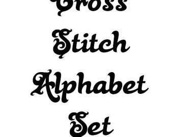 Alphabet Set Number 9 Cross Stitch Pattern