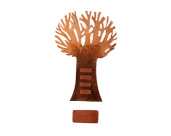 Bronze Family Tree In Shadow Box, 10 names, 8 Year Anniversary, Husband Gift, Wife, Boyfriend Gift, Anniversary Gift, bronze anniversary