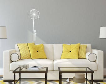 Dandelion with Flowers Wall Decal - Great For Home, Bedroom And Living Room Decor