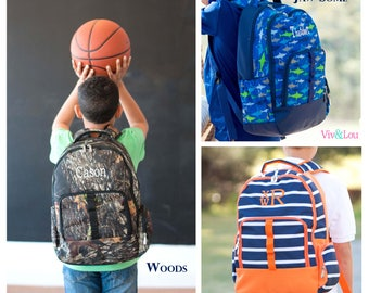 Boys Backpack, Boys Monogram Backpack, Boys Personalized Backpack, Shark Backpack, Camo Backpack, Kids Backpack, Back to School