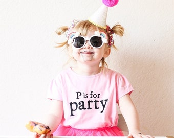 Custom Birthday Shirt, Kids Party Shirt, Personalized Kids Gifts, Girls First Birthday Outfit, Girl Power, Kids Party Favors, Pink Clothes
