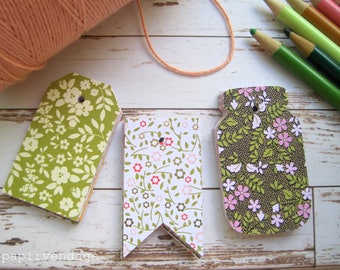 Tags,Gift Tags,Floral Tags, Fall Gift Tags, Floral Garden Tags,Wedding Tags, Baby Shower Tags, Thanksgiving Tags,Favor Tags,Flower Gift Tags