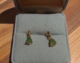 Tiny Green Earrings