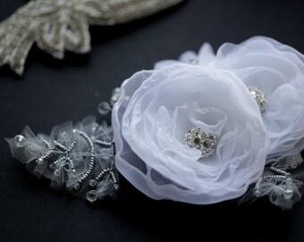 flower fascinator, hair acessory, flower headpiece, Wedding headpiece, hair accessories, wedding accessories, bridal flower headdress