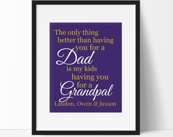 Gift for Step Dad - The only thing better than having you for a Dad - Father Gift - Father's Day Gift - Gifts for Dad - New Parents Gift -