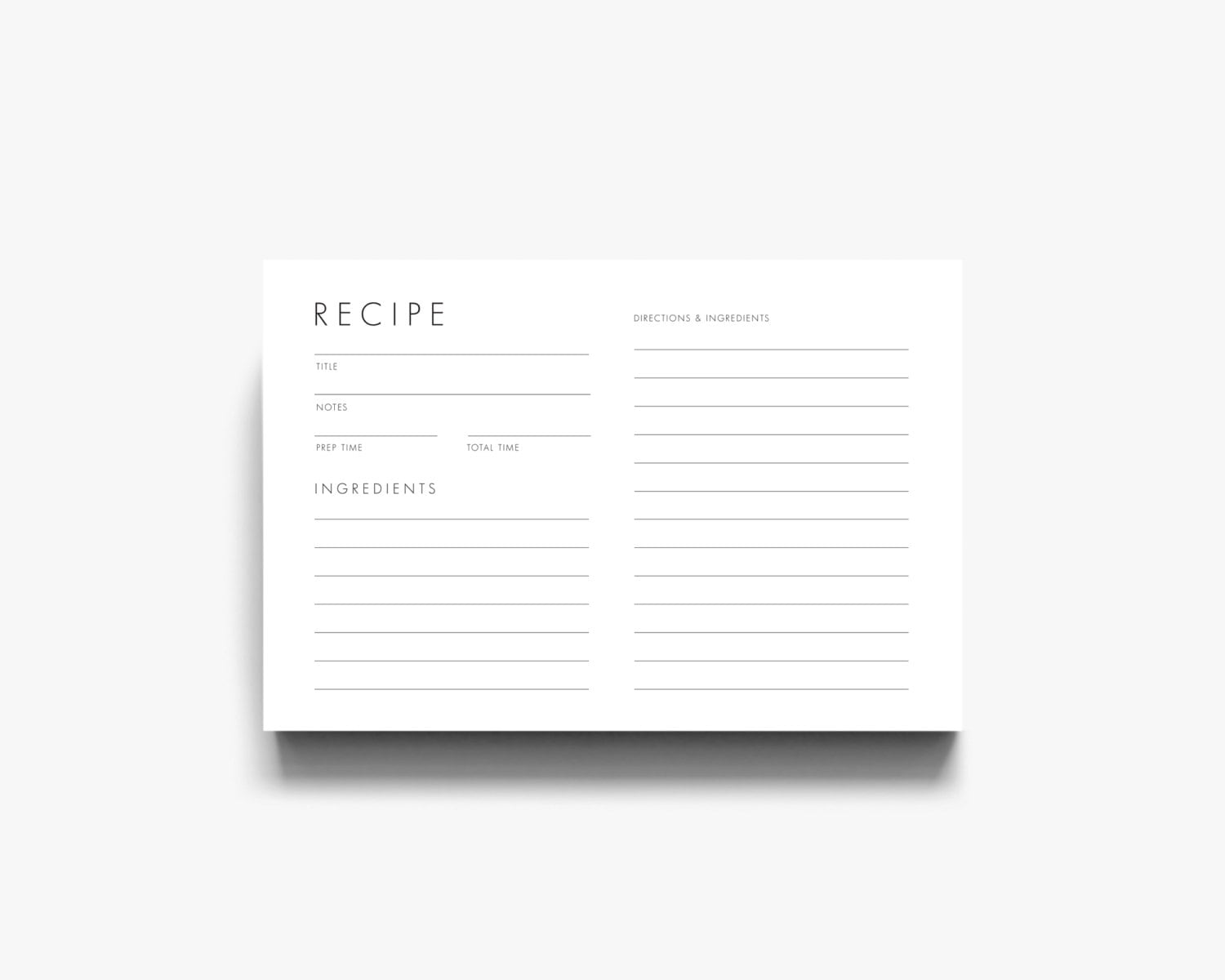 🔎zoom  Free Recipe Card Templates For Word