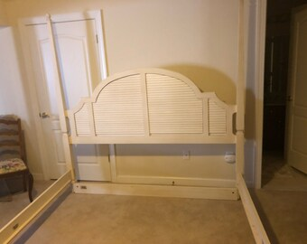 Ethan Allen Swedish Home Off White King Bed Frame