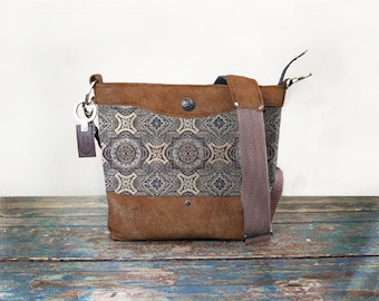 Pre-Order - Concealed Carry Dark Medallion Leather Purse Handbag with Holster CCW Conceal Bag