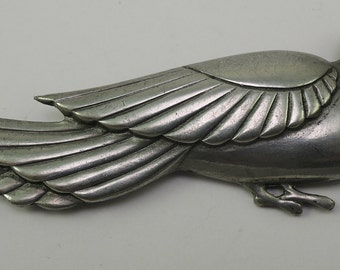 Pewter Dove Pin 1960s
