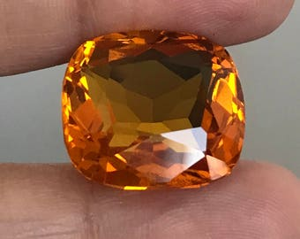 Two lovely faceted citrine gemstones