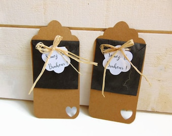 Gift to guests in kraft Brown and black for seeds - bags for seeds Kraft - kraft by Pleasant Home deco wedding