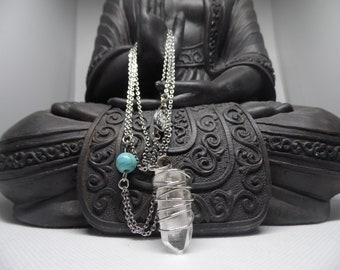 Quartz with Turquoise