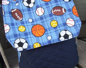 Sports Lunch Tote, Boys Lunch Bag, Boys Lunch Tote, Clearance Tote