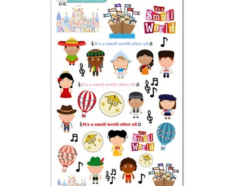 It's a Small World Stickers - Disney Planner Stickers