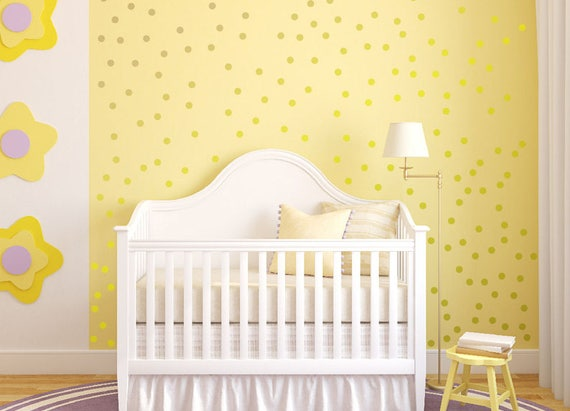 Polka Dots Wall Decal Metallic Gold Available Set of 10