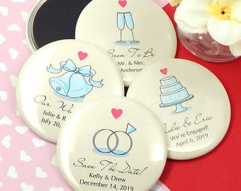 Wedding Favor Magnets, Personalized Magnets - Set of 24