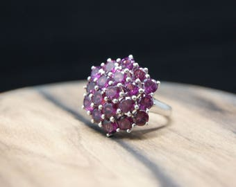 6.17ct garnet sterling silver ring