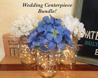 Bulk of 10 Rustic Wedding Centerpieces, Wedding Table Centerpiece, Rustic Wedding Table, Wedding Table Decorations, Mason Jar Centerpieces
