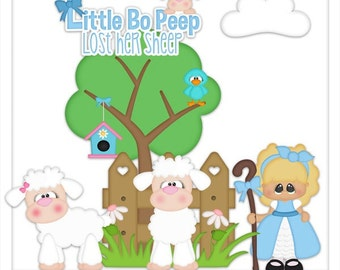 DIGITAL SCRAPBOOKING CLIPART - Little Bo Peep