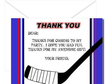 PRINTABLE - Slapshot Hockey Thank Yous #DIY #Digital #File