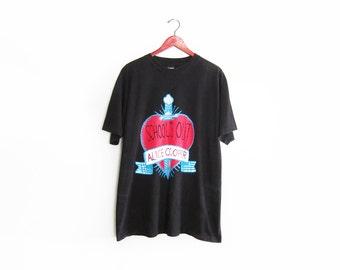 vintage t shirt / Alice Cooper shirt / 90s band shirt / 1990s Alice Cooper Schools out for Summer t shirt XL