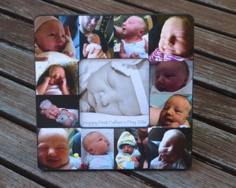 Baby's First Year Collage Picture Frame, Personalized Father's Day Gift, Unique Mother's Day Gift, Custom Birthday Gift for Dad