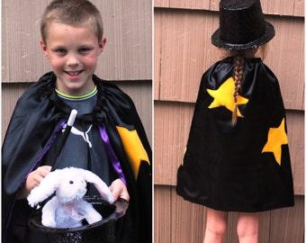 Fait à la main enfant Cape magicien Cape Halloween enfants enfants Photo Prop