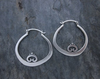 Bent Hoops with Swirl Detail