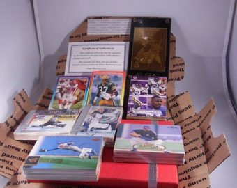 Sports package-Packs of Football Cards-BaseBall Cards-And Hockey Cards , One Gold Lou Gehrig limited edition The Iron Horse