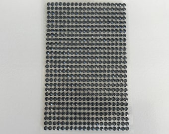 560 rhinestone cabochon 3mm stickers grey plate