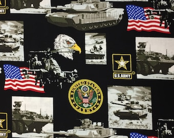 Patriotic Army Military Fabric - 100% quilting cotton [[by the half yard]]