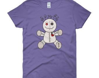 Womens Voo Doo Doll Short Sleeve T-shirt