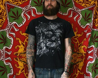 Vintage Misfits T Shirt. Distressed 80s or 90s Faded Punk Rock T Shirt. Small Vintage Misfits Punk Rock Crimson Ghost T Shirt. Rare 80s Punk