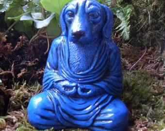 Buddha, Dog Statue, Meditating Dog Statue, Zen Decor, Buddha Dog Statue, Yoga, Dog Memorial Statue, Zen Garden Decor, Spiritual Decor