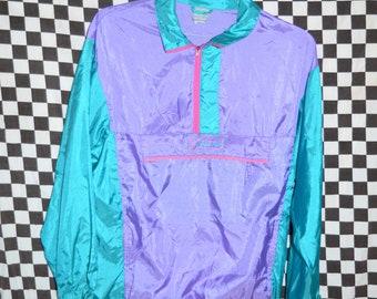 WINDBREAKER bomber jacket vintage 90's fresh prince fluoro neon