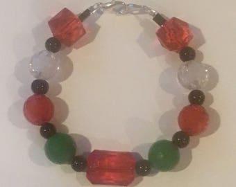 Christmas Bubblegum Bracelet