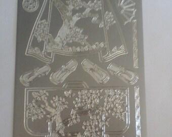 Starform silver kimono stickers 1088ss