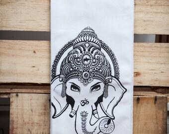 Cotton Tea Towel - Ganesha