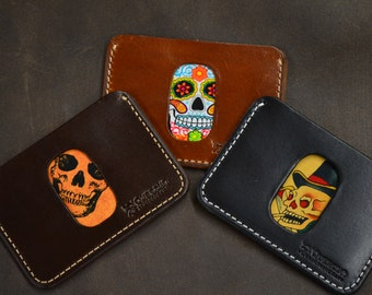 Business card holder with printed lining