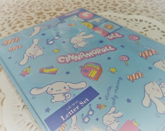 Kawaii 19 Pc. Cinnamoroll Letter Stationery Set Pastel Blue great for scrapbooking, Snail Mail, Pen pal, Crafts,  School, Stationery, Diy.