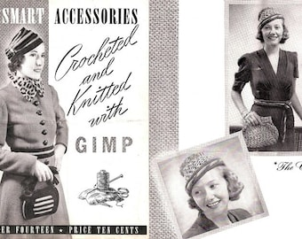 Smart Accessories Crocheted & Knitted With Gimp 1938