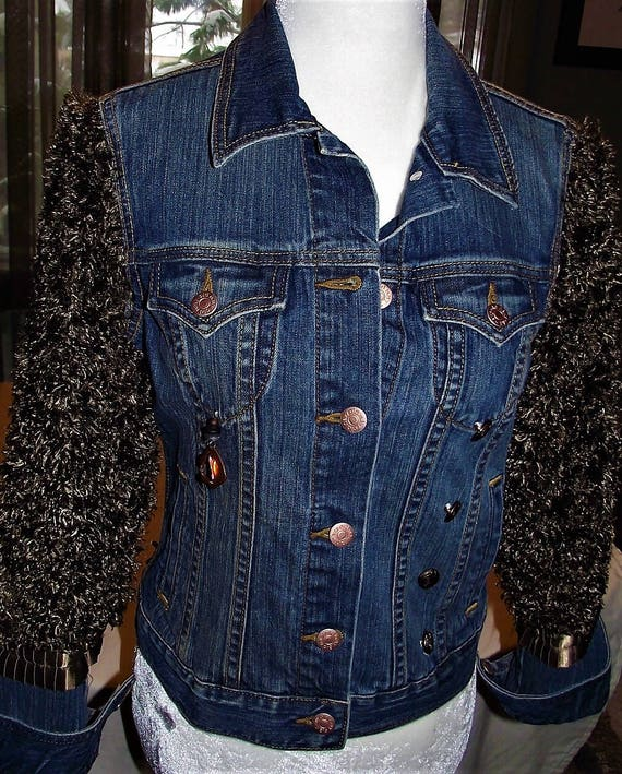 Refurbished Womens Denim Jacket, Size-Sm