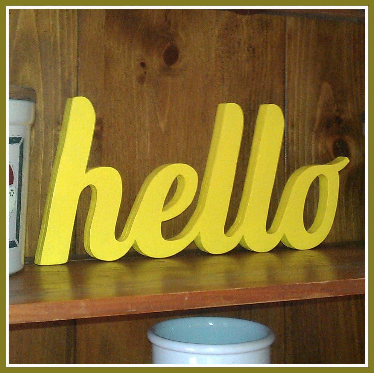 HELLO Wooden Hello Sign stand-alone decoration