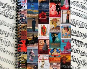Opera Posters Mosaic A6 Notebook