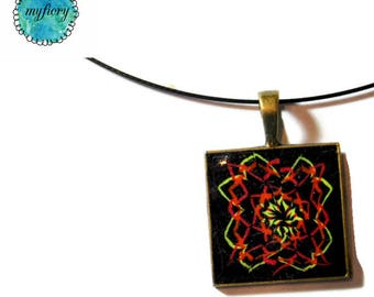 Unique  Women's polymer clay Millefiori pendant Chain by Orly Kliger