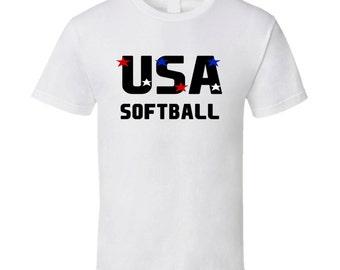 Softball Usa Hobbies Sports And Activities T Shirt