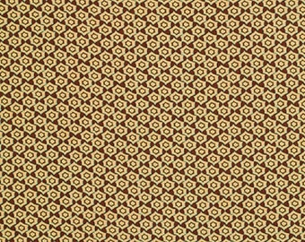 "Free Spirit Tina Givens  ""Fortiny""  Hex  Chocolate  Cotton Fabric"