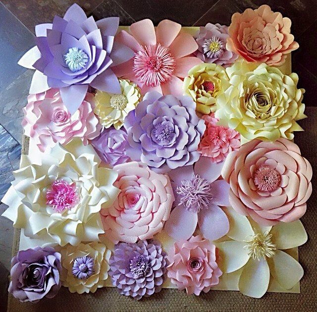 Paper flowers wall decor wedding decor home decor paper zoom mightylinksfo