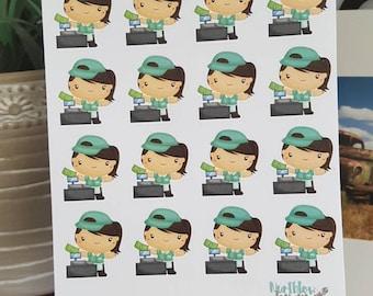 Cashier Stickers - Erin Condren, Kikki K, Happy Planner, Filofax